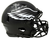 Brian Dawkins Signed FS Eagles Speed Authentic Eclipse Helmet Fly Eagles Fly JSA - Sports Integrity