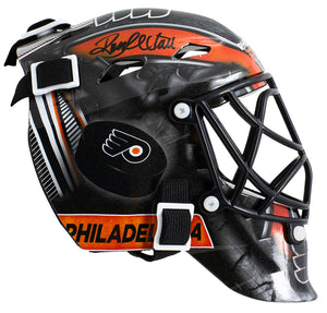 Ron Hextall Signed Philadelphia Flyers Mini Replica Goalie Mask JSAITP