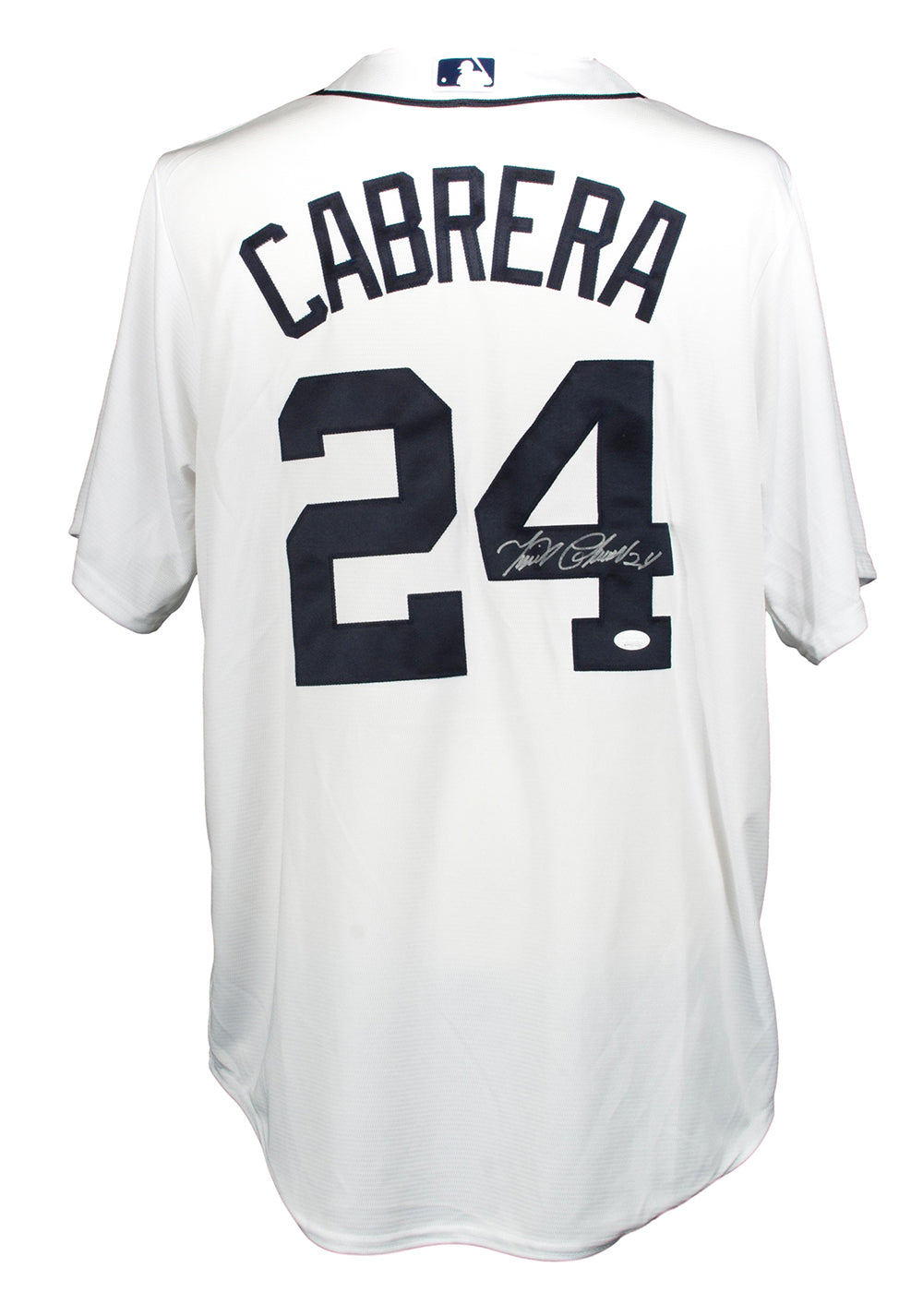 Miguel Cabrera Signed Tigers Majestic Cool Base White Baseball Jersey JSA