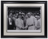 Calvin Coolidge Walter Johnson Framed 17x22 Historical Archive Giclee - Sports Integrity