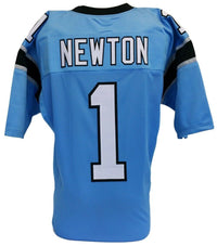 Cam Newton Unsigned Custom Blue Pro Style Football Jersey Size XL - Sports Integrity