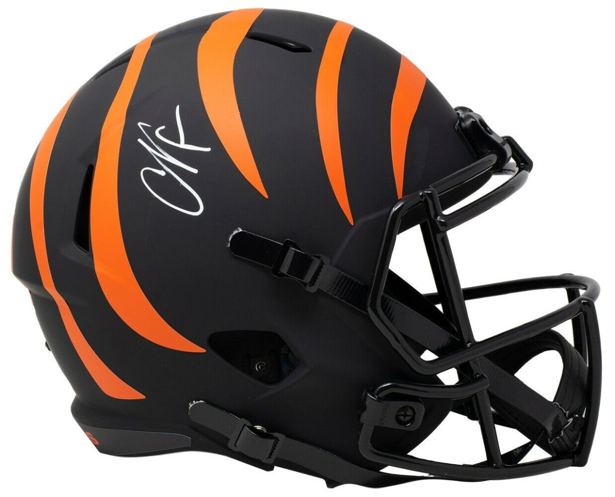 Chad Johnson Signed Full Size Bengals Eclipse Speed Replica Helmet JSA ITP - Sports Integrity