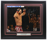 Chad Mendes Signed Framed 16x20 UFC Photo Insc. Money Fanatics - Sports Integrity