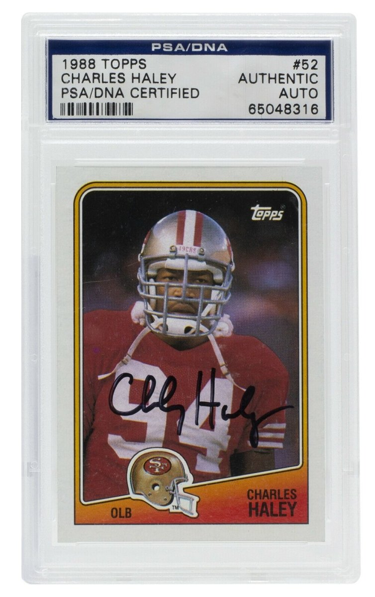 Charles Haley Signed 1988 Topps #52 San Francisco 49ers Card PSA/DNA - Sports Integrity