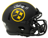 Chase Claypool Signed Pittsburgh Steelers Mini Speed Replica Eclipse Helmet BAS - Sports Integrity