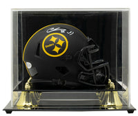 Chase Claypool Signed Steelers Mini Speed Replica Eclipse Helmet w/Case BAS ITP - Sports Integrity