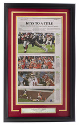 Chiefs Framed 18x30 Feb 3 '20 SB 54 Kansas City Star Top Plays Paper - Sports Integrity