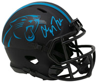 Christian McCaffrey Signed Panthers Mini Eclipse Spd Replca Helmet BAS - Sports Integrity
