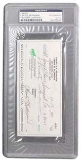 Chuck Bednarik Eagles Signed Slabbed Personal Bank Check PSA 84075596 - Sports Integrity
