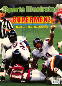 Dan Hampton Signed Bears Sports Illustrated Magazine Cover BAS S37489