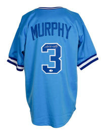 Dale Murphy Signed Custom Light Blue Baseball Jersey PSA/DNA - Sports Integrity