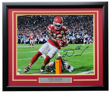 Damien Williams Signed Framed KC Chiefs 16x20 SB LIV TD Photo BAS - Sports Integrity