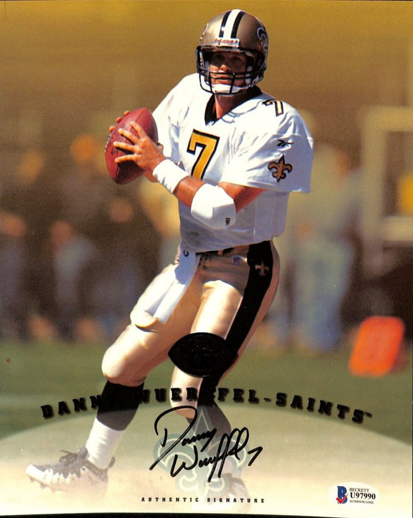 Danny Wuerffel Signed New Orleans Saints 8x10 Photo BAS - Sports Integrity