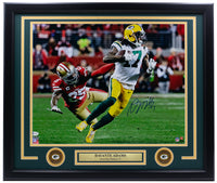 Davante Adams Signed Framed Green Bay Packers 16x20 Photo vs 49ers BAS ITP