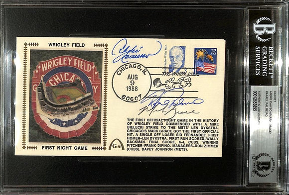 Dawson Grace Palmeiro Signed Slabbed Wrigley Field Envelope BGS - Sports Integrity