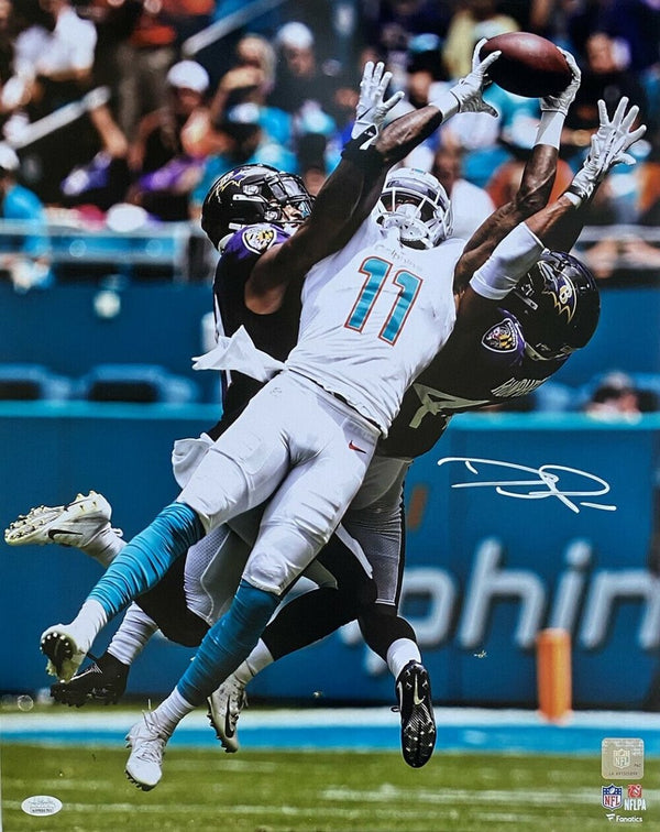 DeVante Parker Signed Miami Dolphins 16x20 Football Photo JSA ITP - Sports Integrity