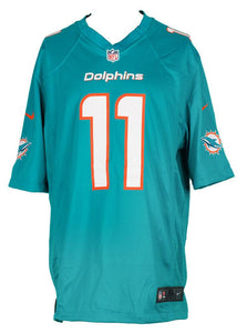 DeVante Parker Signed Miami Dolphins Teal Nike Football Jersey JSA ITP - Sports Integrity