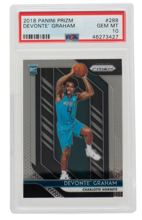 Devonte Graham 2018 Panini #288 Charlotte Hornets Prizm Card PSA GM 10 - Sports Integrity