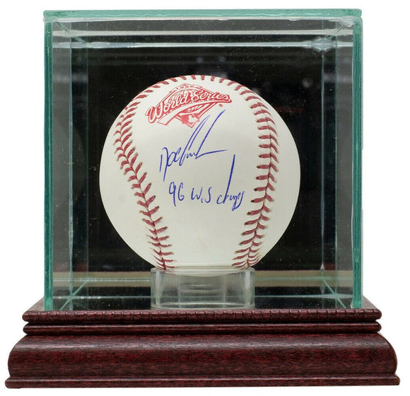 Doc Gooden Signed 1996 World Series Baseball 96 WS Champs w/Case JSA - Sports Integrity