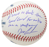 Doc Gooden Signed Official MLB Baseball Insc Thank the Lord w/Case JSA - Sports Integrity
