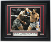 Dominick The Devastator Reyes Signed Framed 8x10 Photo PSA/DNA Holo - Sports Integrity