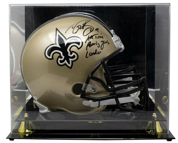 Drew Brees Signed Full Size Spd Replica Helmet Passing Yds Leader w/Case BAS ITP - Sports Integrity