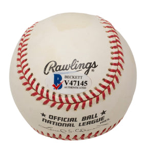 Don Sutton Mike Schmidt Signed Official MLB Baseball BAS V47145