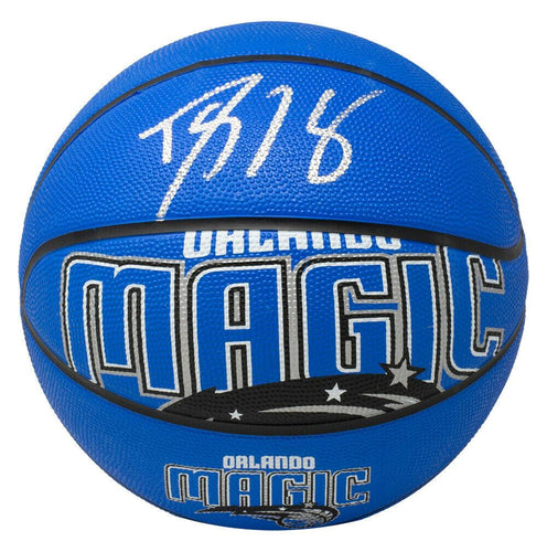 Dwight Howard Signed Orlando Magic Blue Spalding Logo Basketball BAS ITP - Sports Integrity
