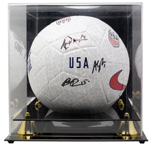 Rapinoe Morgan Naeher Team USA Signed Nike One Nation Soccer Ball JSA w/ Case