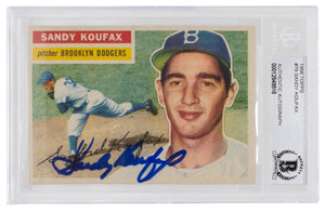 Sandy Koufax Signed 1956 Topps #79 Brooklyn Dodgers Baseball Card BGS
