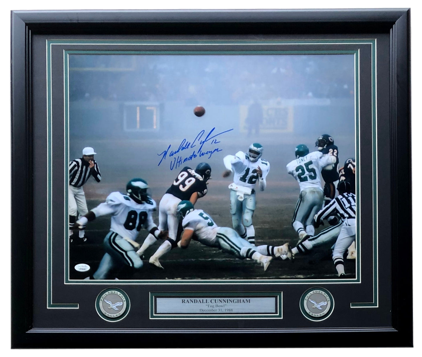 Randall Cunningham Signed Framed Eagles 16x20 Fog Bowl Photo Ultimate Weapon JSA