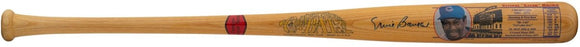 Ernie Banks Signed Chicago Cubs Cooperstown Stat Baseball Bat BAS Hologram - Sports Integrity
