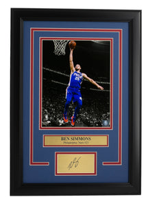 Ben Simmons Framed 8x10 76ers Photo w/ Laser Engraved Signature