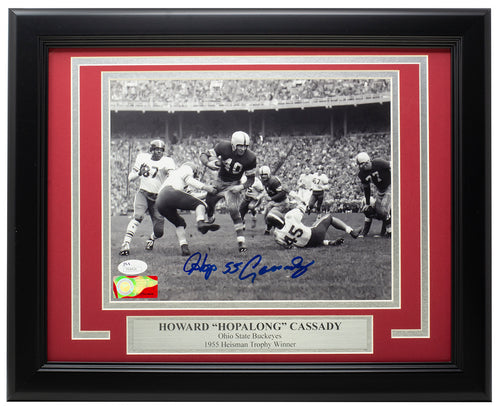Howard 'Hopalong' Cassady Signed Framed 8x10 Ohio State Photo JSA