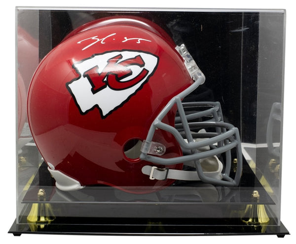 Frank Clark Signed Kansas City Chiefs FS Replica Helmet w/Case JSA ITP - Sports Integrity