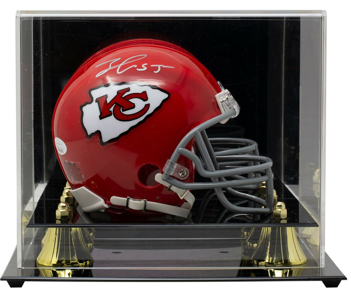 Frank Clark Signed Kansas City Chiefs Mini Red Replica Helmet Case JSA - Sports Integrity
