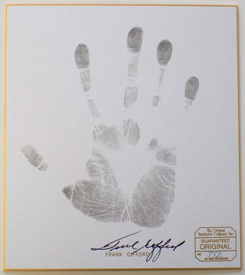 Frank Gifford New York Giants Signed Authentic Hand Print Photo SI - Sports Integrity