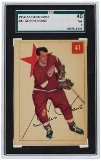 Gordie Howe Detroit Red Wings 1954 Parkhurst #41 Hockey Card VG 3 SGS - Sports Integrity
