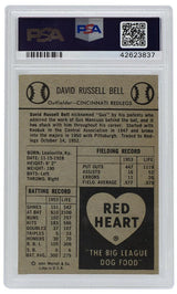 Gus Bell Cincinnati Redlegs 1954 Red Heart Baseball Card NM 7 PSA - Sports Integrity