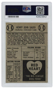 Hank Sauer Chicago Cubs 1954 Red Heart Slabbed Baseball Card NM 7 PSA - Sports Integrity