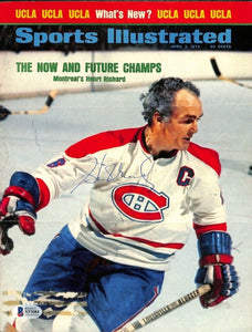 Henri Richard Signed Montreal Canadiens Sports Illustrated Magazine Cover BAS - Sports Integrity