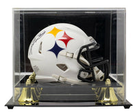 Hines Ward Signed Pittsburgh Steelers Mini Spd Replica Amp Helmet w/Case BAS ITP - Sports Integrity