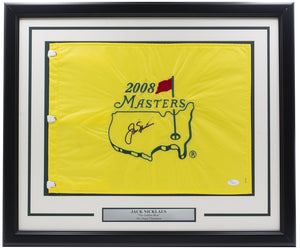 Jack Nicklaus Signed Framed 2008 Masters Flag JSA LOA - Sports Integrity