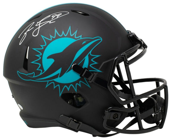 Jason Taylor Signed Full Sze Miami Dolphins Eclipse Speed Replica Helmet JSA ITP - Sports Integrity