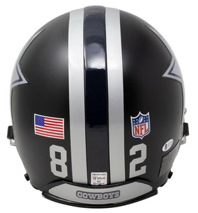 Jason Witten Signed Full Size Authentic Matte Black Helmet BAS WC47453 - Sports Integrity