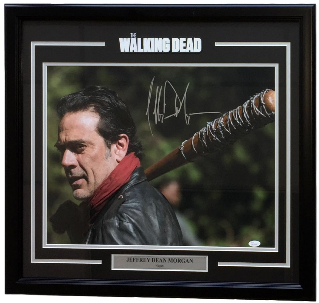 Jeffrey Dean Morgan Signed Framed Walking Dead Negan Look Back 16x20 Photo JSA