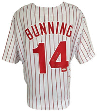 Jim Bunning Signed Philadelphia Phillies Majestic Replica Jersey PG 6/21/64 JSA - Sports Integrity