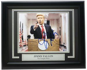 Jimmy Fallon Signed Framed 8x10 The Tonight Show Photo BAS - Sports Integrity