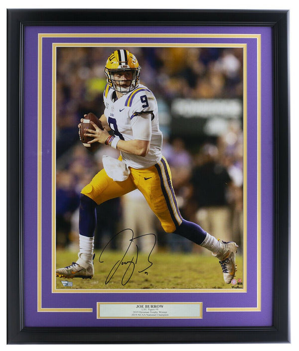 Joe Burrow Signed Framed LSU Tigers 16x20 Football Photo Fanatics - Sports Integrity