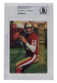 Joe Montana Signed 1993 Action Packed #23 San Francisco 49ers Card BGS - Sports Integrity